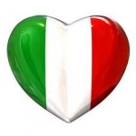 bandiera italia a cuore