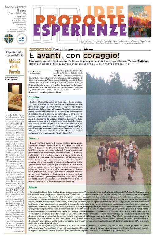 IPE prima pagina 6 2019 Allegato a Nuovo Diario. Scarica il pdf (6MB)
