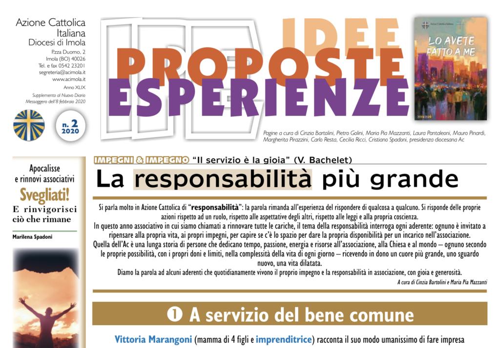 Immagine di apertura di IPE numero 2 del 2020